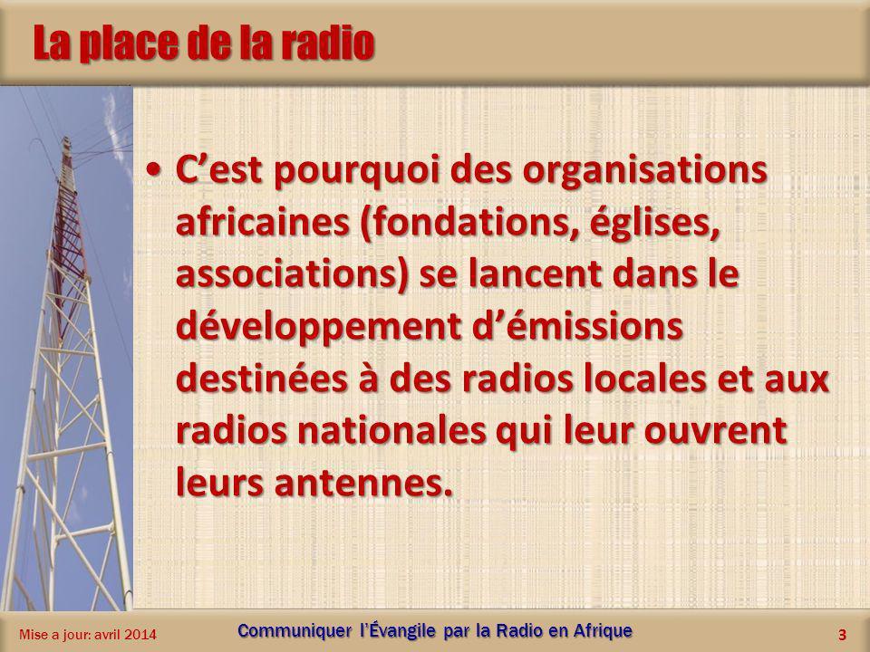 La place de la radio Cest pourquoi des organisations africaines (fondations, églises, associations) se lancent dans le développement démissions destin