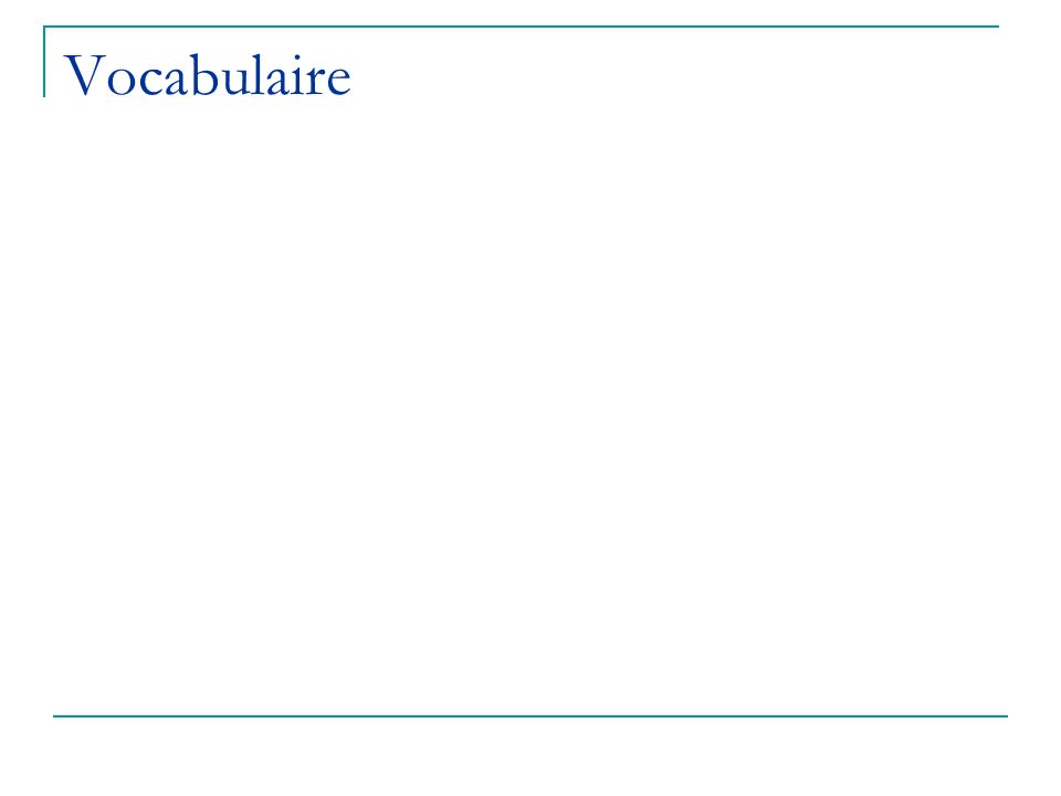 Les verbes réguliers en –er au présent French verbs change endings with each subject (or pronoun).