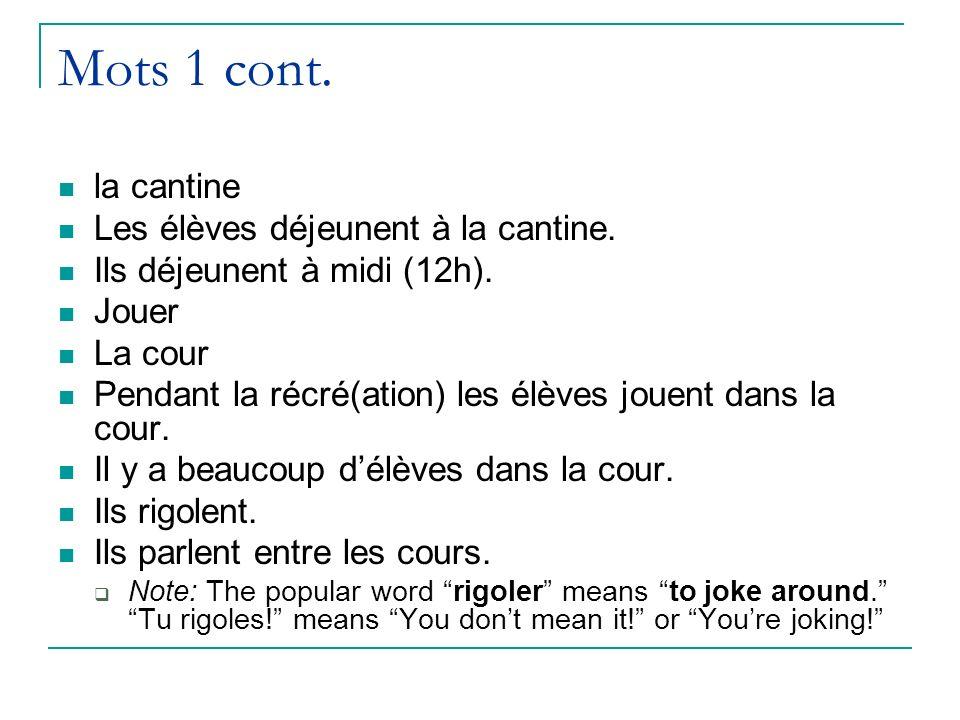 échauffement mercredi le 23 octobre The following sentences describe a girl named Monique.