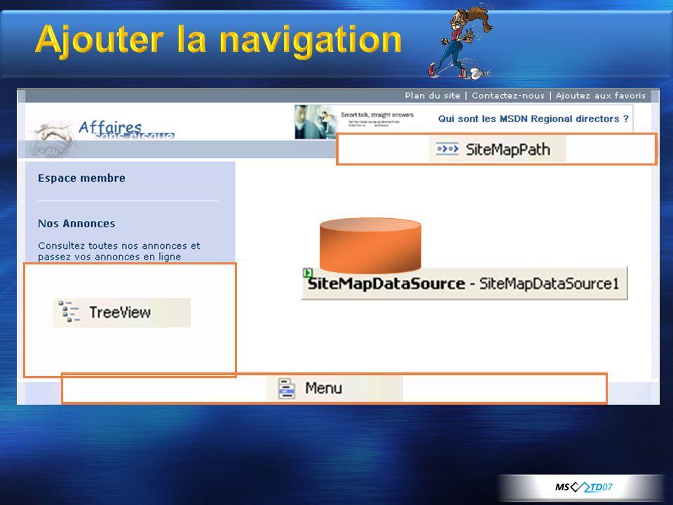 Ajouter la navigation