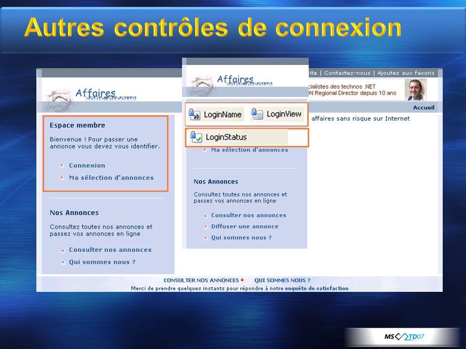 Autres contrôles de connexion