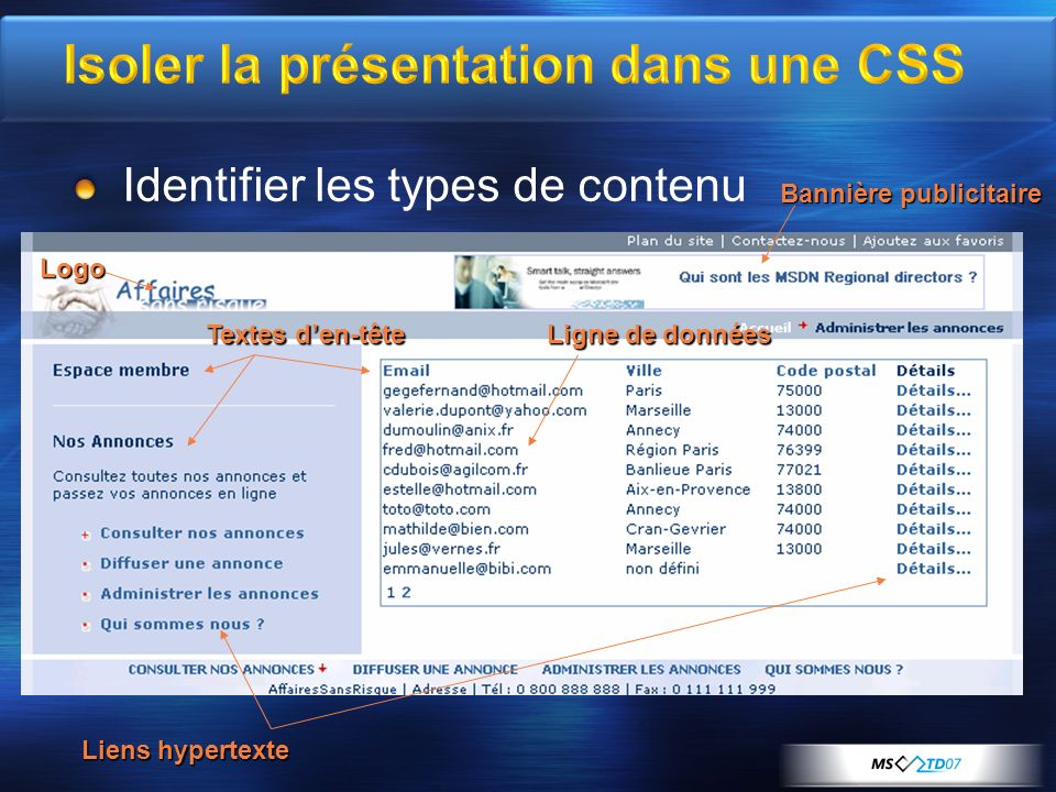 Règles dautorisation Pages visibles aux administrateurs du site uniquement Pages visibles aux membres du site uniquement Pages publiques