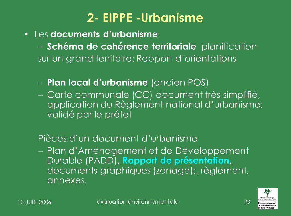 13 JUIN 2006 évaluation environnementale 30