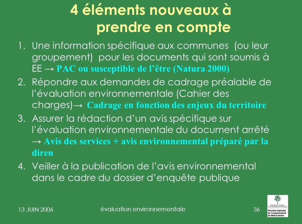 13 JUIN 2006 évaluation environnementale 37 3 - Actualité 1.SCOT 2.PLU II-2° 3.PLU II-1° « Natura