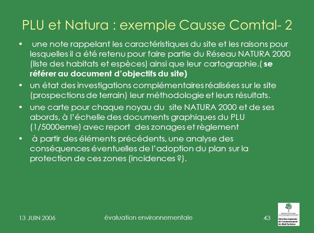 13 JUIN 2006 évaluation environnementale 44 Exemple note de cadrage de Montbartier