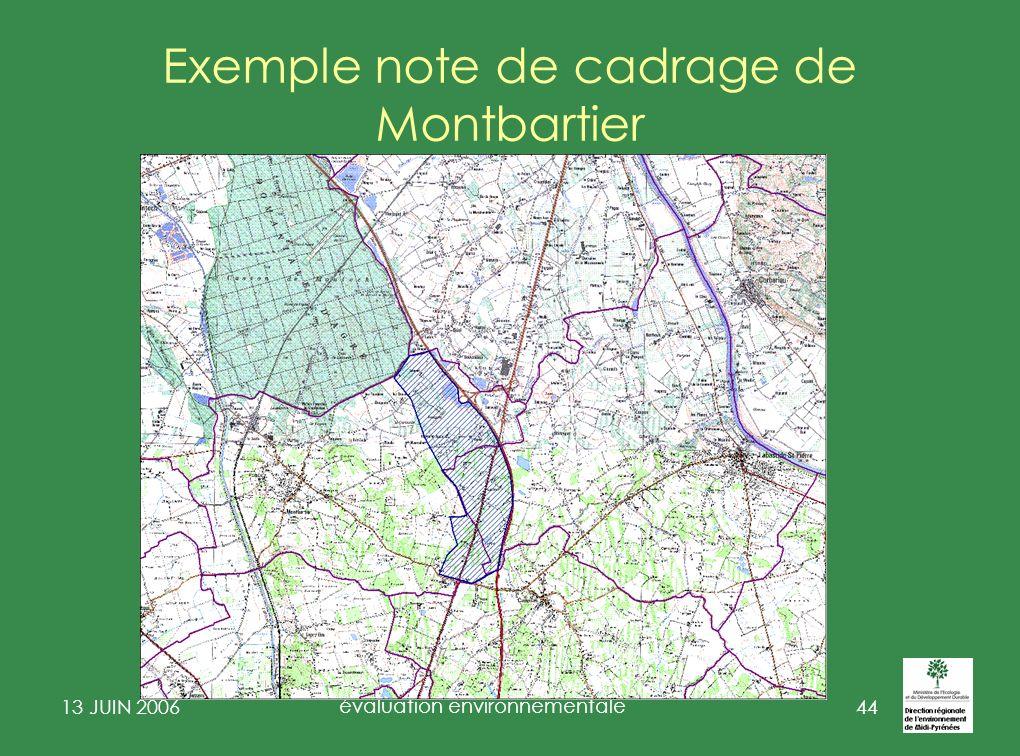 13 JUIN 2006 évaluation environnementale 45 Révision du PLU de Montbartier Note de cadrage Evaluation Environnementale 1 – Contexte 1.1 – Caractéristiques générales de la commune 1.2 – Objectifs de la révision du PLU 1.3 – Obligation dévaluation environnementale 2 – Cadrage de lévaluation environnementale du PLU 2.1 – Définition des périmètres pertinents en labsence dun document supra communal de cohérence (SCOT) a – Commune de Montbartier