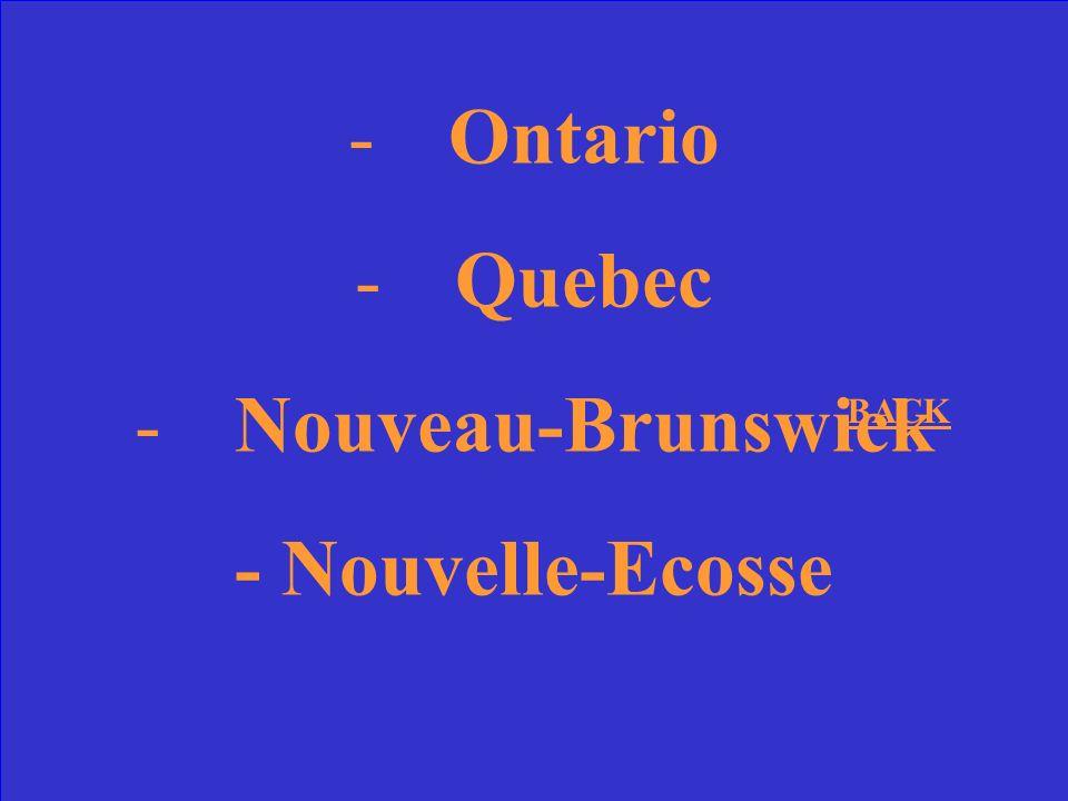 Quelles sont les quatre provinces originales du Canada?