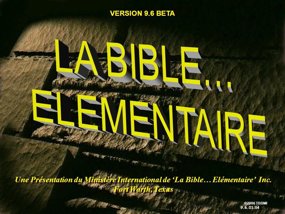 ©2006 TBBMI 9.6.01.5 Mots Clés ou Expressions: 7 7 50 Manuel pg.