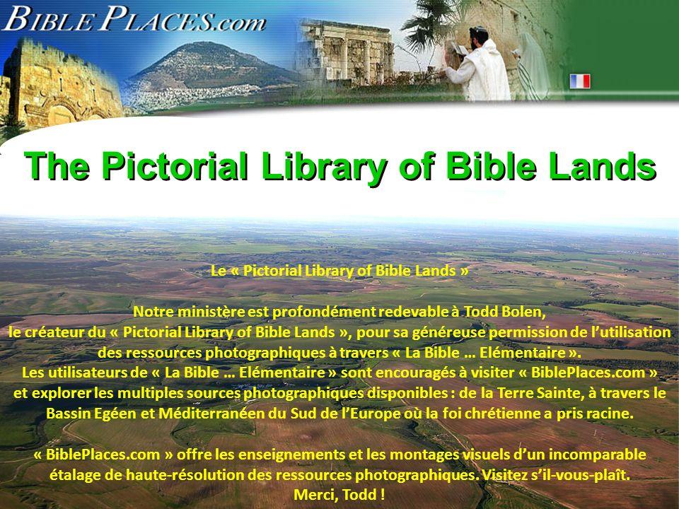 ©2006 TBBMI 9.6.01. The Pictorial Library of Bible Lands Le « Pictorial Library of Bible Lands » Notre ministère est profondément redevable à Todd Bol