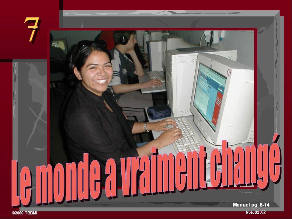 ©2006 TBBMI 9.6.01. 7 7 62 Manuel pg. 8-14