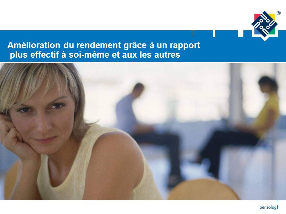 Page 62 | © 2008 persolog GmbH – Toute reproduction interdite | www.persolog.de | tension entre les personnes course contre la montre, frénésie menace pour la sécurité, pour la confiance en soi, etc.