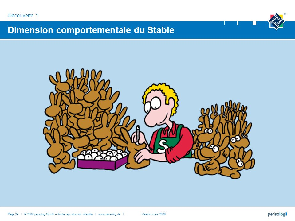 Dimension comportementale du Stable Découverte 1 Page 34 | © 2008 persolog GmbH – Toute reproduction interdite | www.persolog.de |Version mars 2008