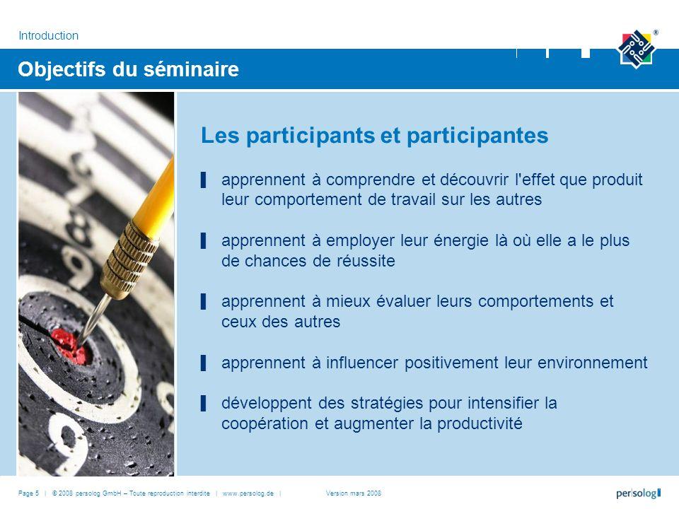Objectifs du séminaire Les participants et participantes apprennent à comprendre et découvrir l'effet que produit leur comportement de travail sur les