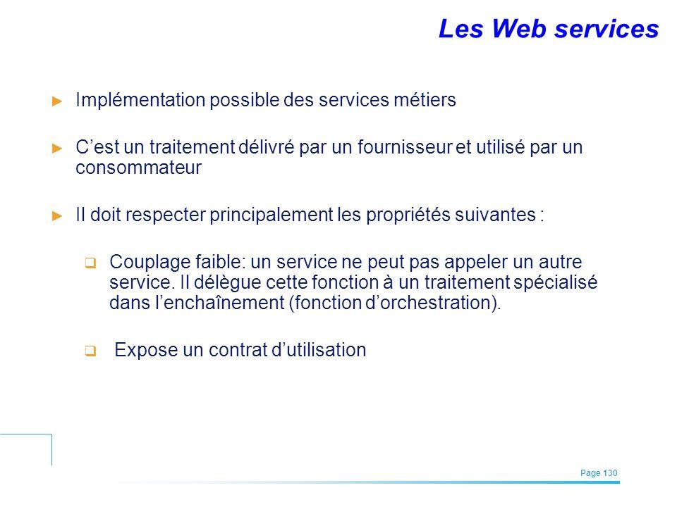 EFREI – M1A | Architecture des Systèmes d'Information | Mai – Juillet 2011| Page 130 Implémentation possible des services métiers Cest un traitement d
