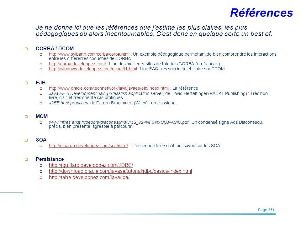 EFREI – M1A | Architecture des Systèmes d'Information | Mai – Juillet 2011| Page 251 Références Je ne donne ici que les références que jestime les plu