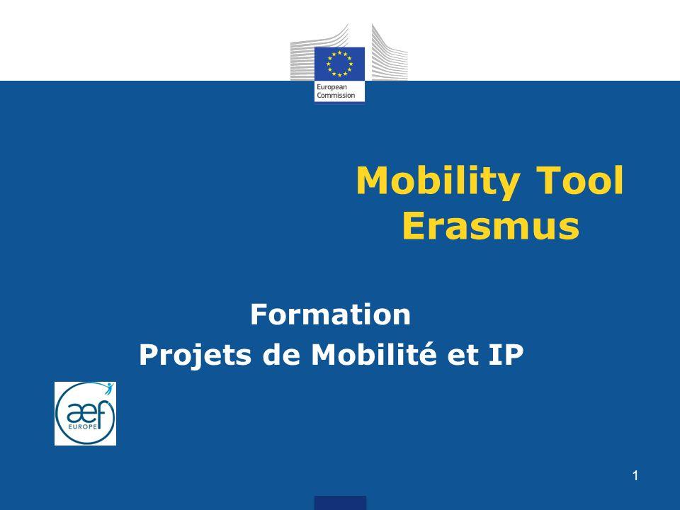 Mobility Tool Erasmus Formation Projets de Mobilité et IP 1