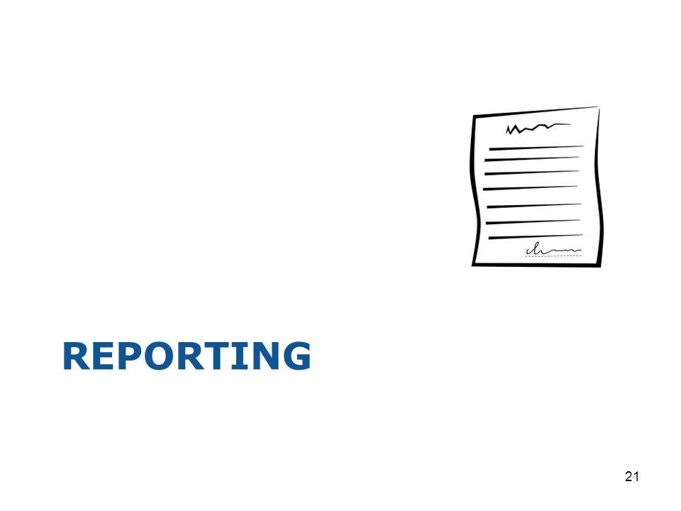 REPORTING 21
