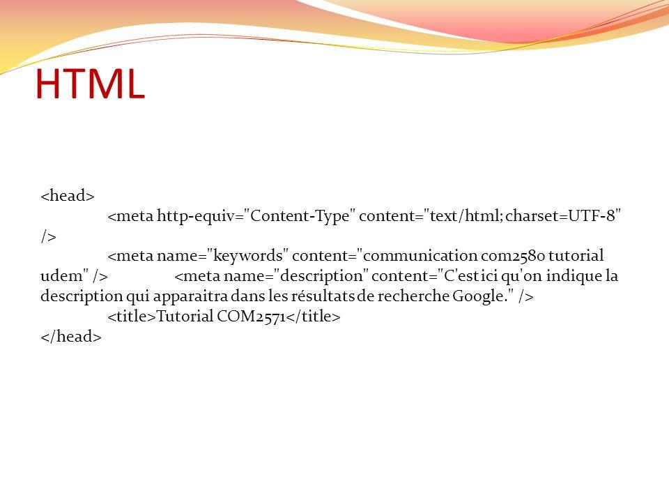 HTML Tutorial COM2571