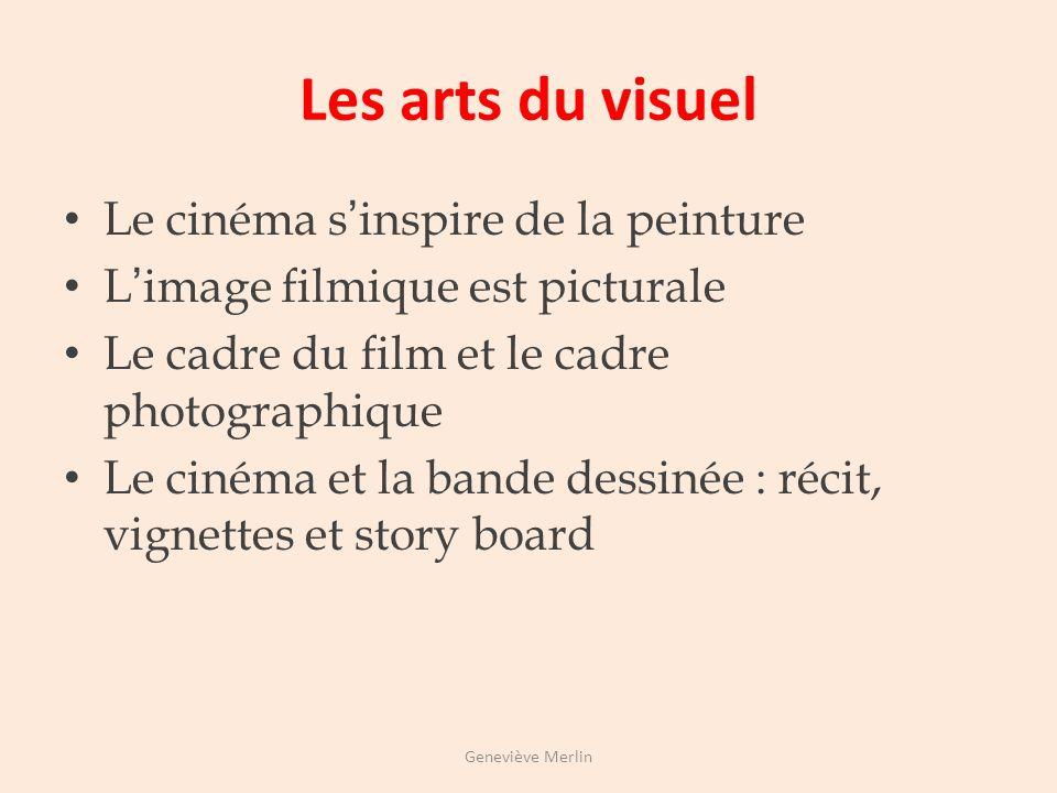 Les arts du spectacle vivant Le cinéma comporte des éléments qui viennent des arts du spectacle vivant Le cinéma et le théâtre : acteur, mise en scène