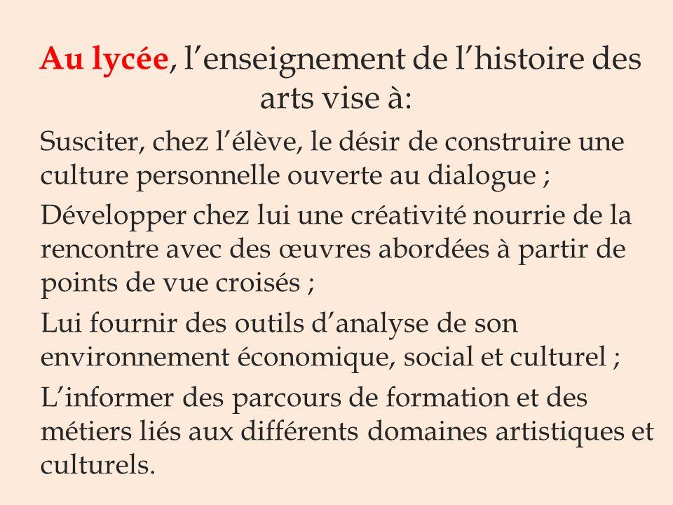Pourquoi enseigner lhistoire des arts ? Au collège lenseignement de lhistoire des arts vise à: Rendre concret un pilier du socle: la culture humaniste