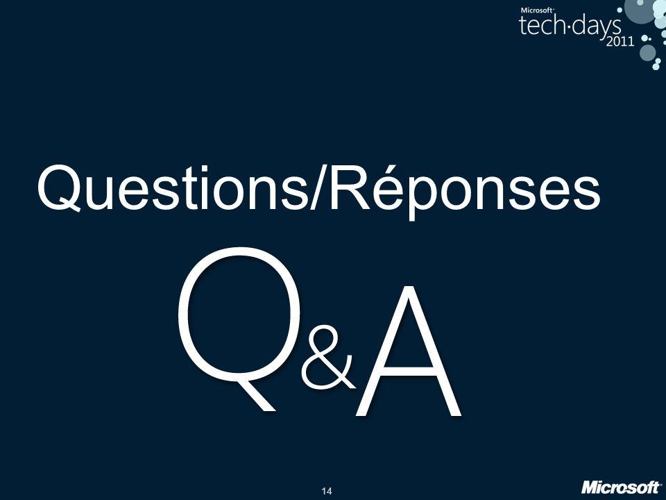 14 Questions/Réponses