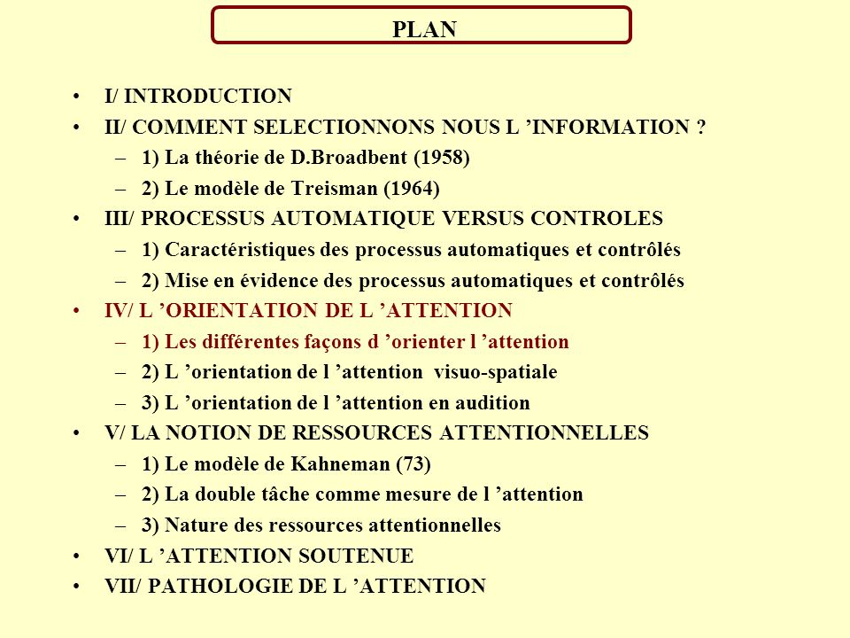 PLAN I/ INTRODUCTION II/ COMMENT SELECTIONNONS NOUS L INFORMATION .