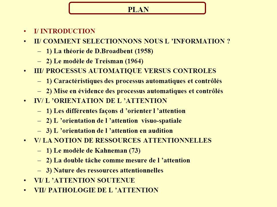 PROJETS EDUCATIFS SELECTION PROFESSIONELLES DIAGNOSTICS ACTIONS PREVENTIVES MERCATIQUES Attention soutenue Orientation de l attention Orientation de l attention