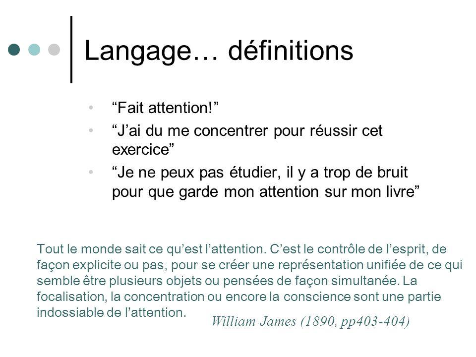 Langage… définitions Fait attention.