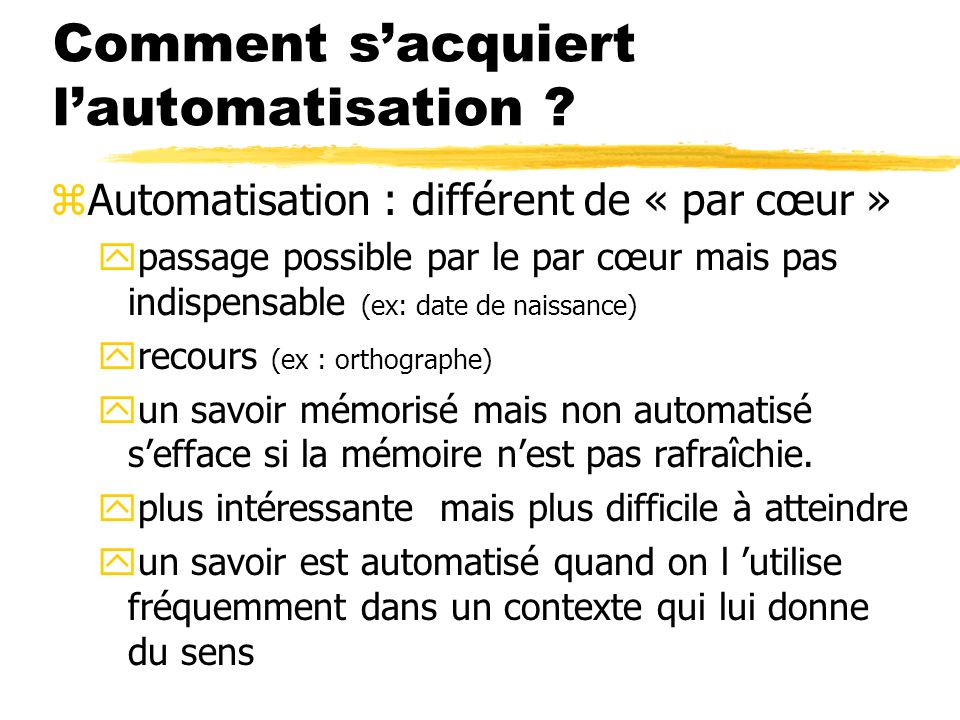 Comment sacquiert lautomatisation .