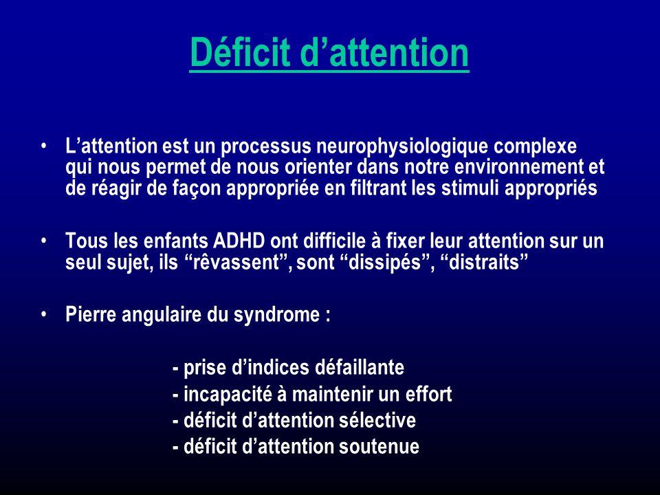 Déficit dattention Lattention est un processus neurophysiologique complexe qui nous permet de nous orienter dans notre environnement et de réagir de f