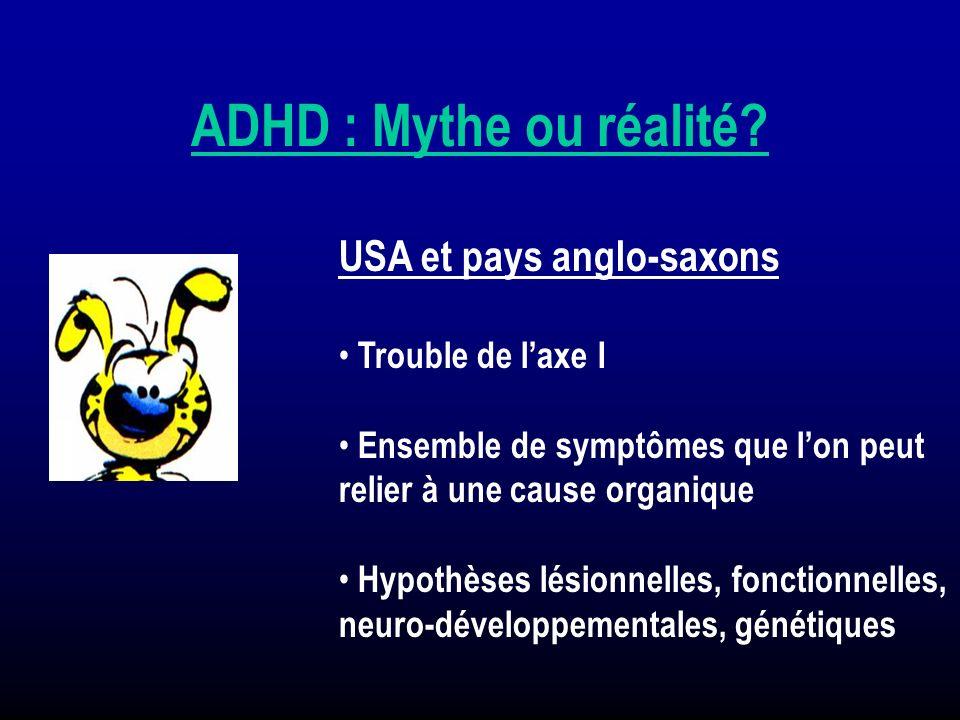 USA et pays anglo-saxons Trouble de laxe I Ensemble de symptômes que lon peut relier à une cause organique Hypothèses lésionnelles, fonctionnelles, ne