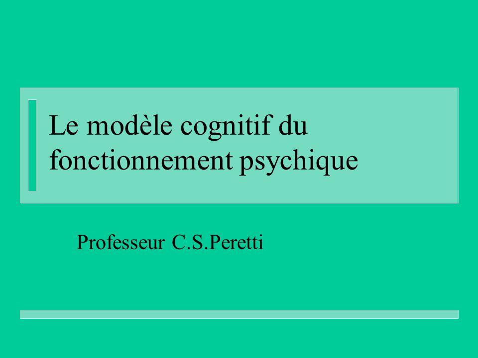 Le modèle cognitif du fonctionnement psychique Professeur C.S.Peretti