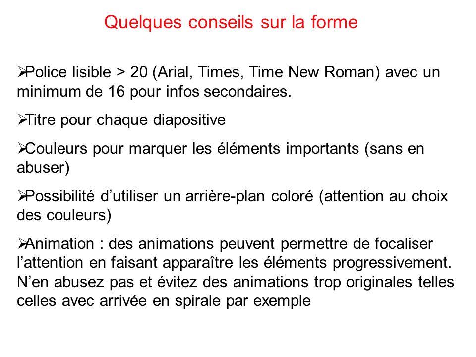 Diapo de titre (1) Plan (1) Introduction (2) Développement (6-8) Conclusion (1) Soit ici 11-13 diapositives Exemple de Structure du diaporama pour un exposé de 10 minutes