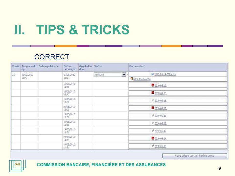 II.TIPS & TRICKS FAUX 10