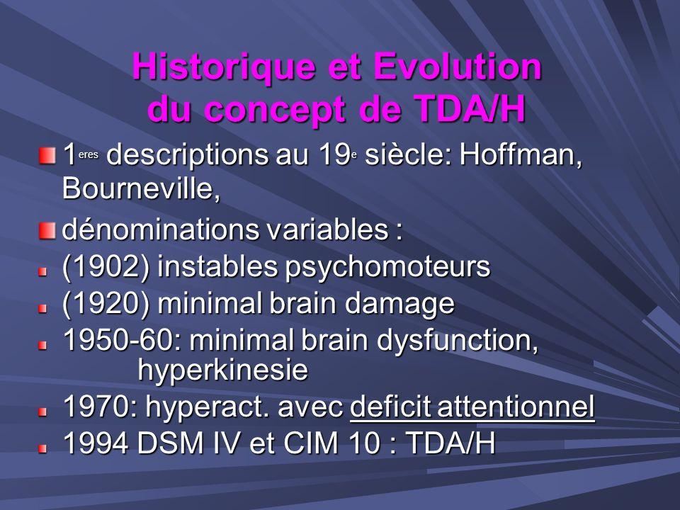 Le TDA/H nest pas du à un excès dénergie du SNC, mais plutôt à…...une inefficacité relative de certains systèmes de neurotransmetteurs...une inefficacité relative de certains systèmes de neurotransmetteurs DOPAMINE (DA) NORADRENALINE (NA) qui sont impliqués dans sa physiopathologie