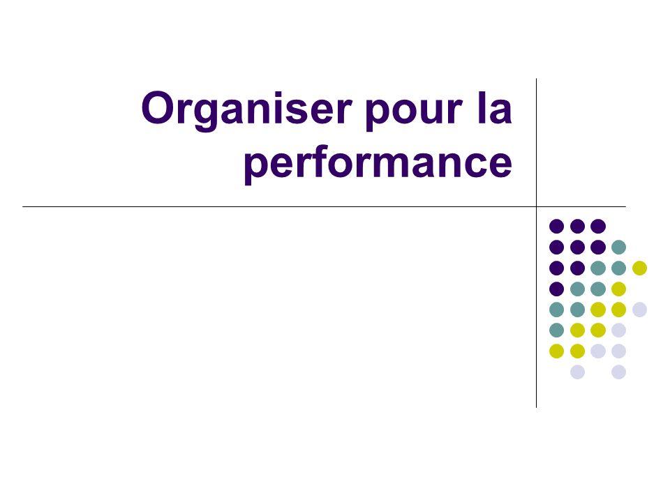 Organiser pour la performance