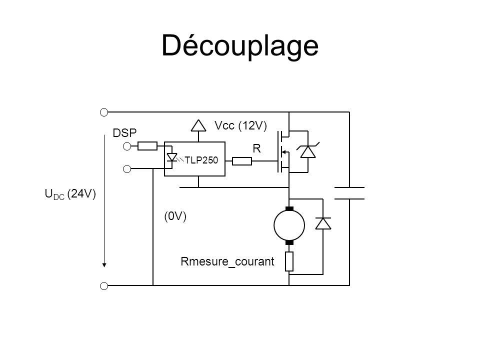 Découplage U DC (24V) TLP250 Vcc (12V) R DSP Rmesure_courant (0V)