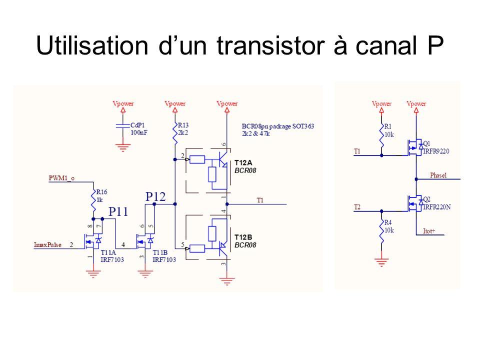 Utilisation dun transistor à canal P
