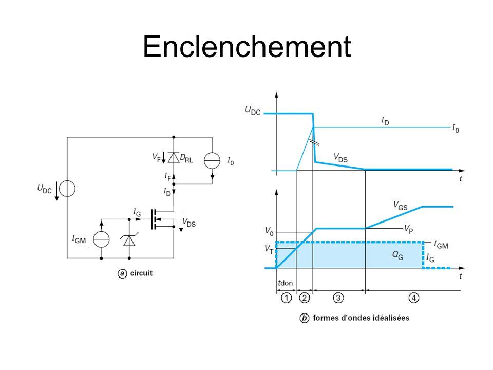 Caractéristiques de létage « driver » Limiter les pertes de commutation –Source de courant idéale pour une commutation rapide Éviter les pics de tension –Attention à la commutation rapide.