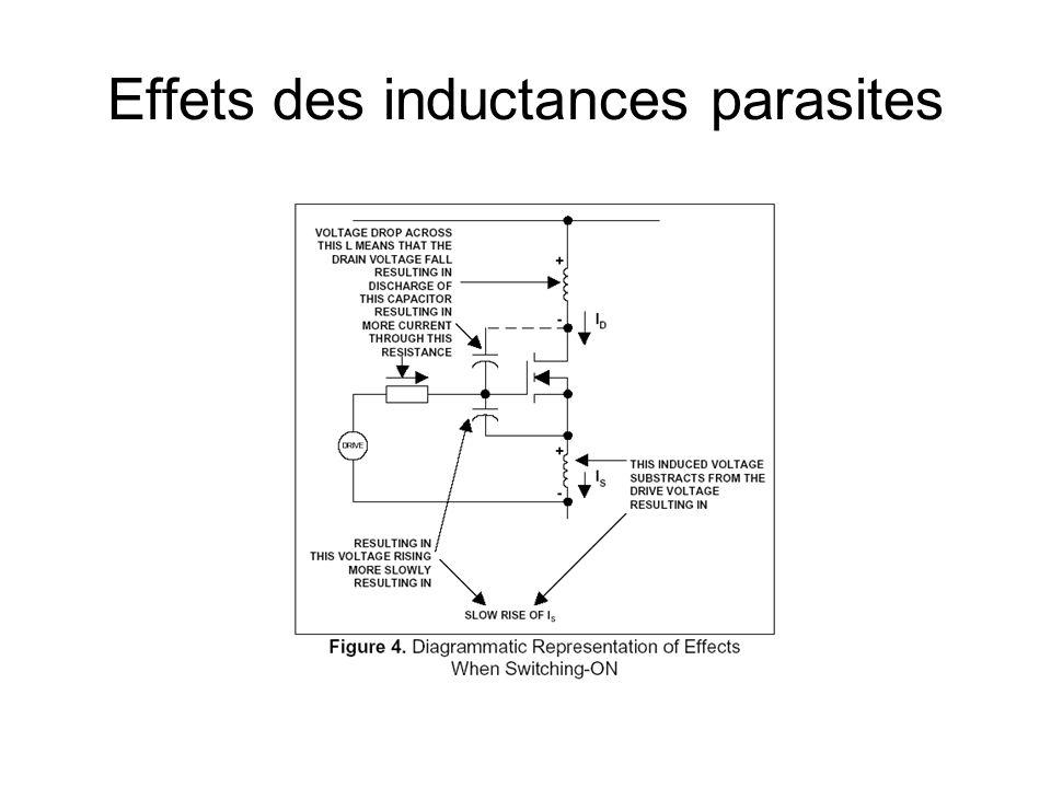 Effets des inductances parasites
