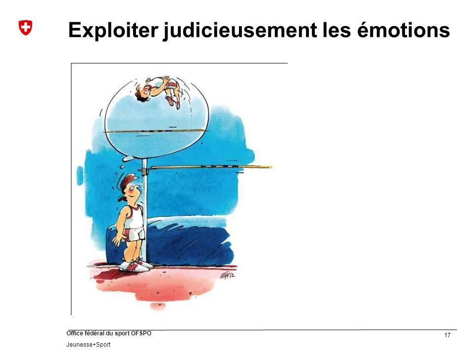 17 Office fédéral du sport OFSPO Jeunesse+Sport Exploiter judicieusement les émotions