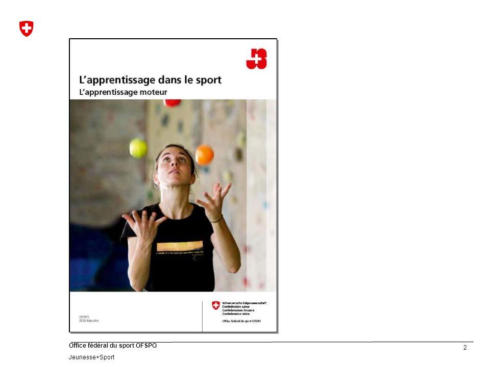 13 Office fédéral du sport OFSPO Jeunesse+Sport Apprendre, cest faire des liens