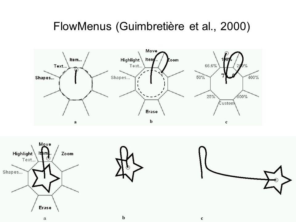 FlowMenus (Guimbretière et al., 2000)