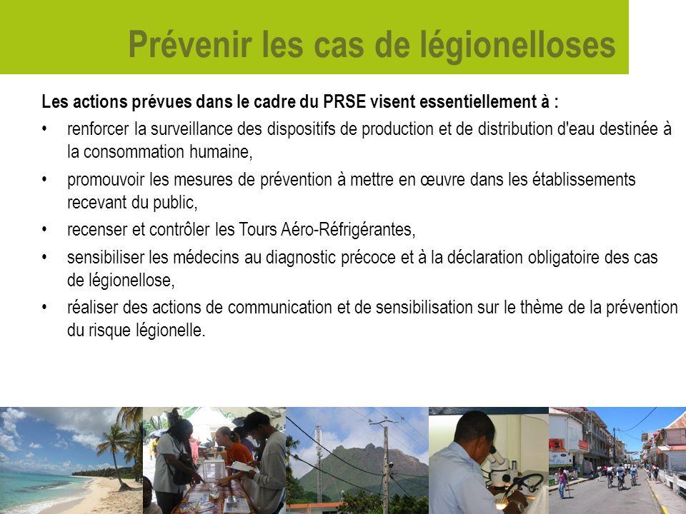 Prévenir les cas de légionelloses Les actions prévues dans le cadre du PRSE visent essentiellement à : renforcer la surveillance des dispositifs de pr