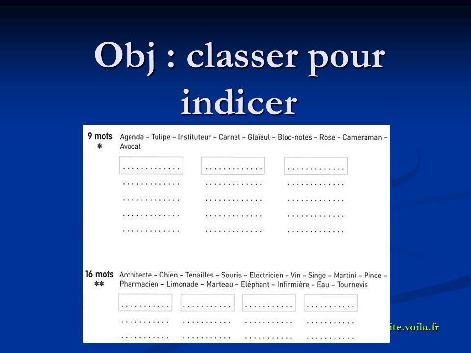 Obj : classer pour indicer crpplyon.site.voila.fr