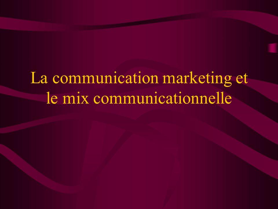 La communication marketing et le mix communicationnelle