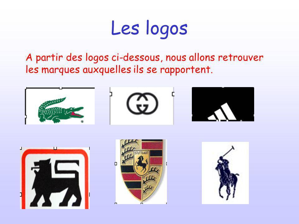 Les extraits musicaux Nous venons de découvrir quil est possible de retrouver une marque à partir des logos.
