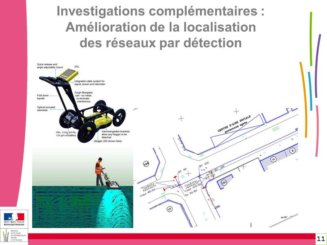 11 Investigations complémentaires : Amélioration de la localisation des réseaux par détection
