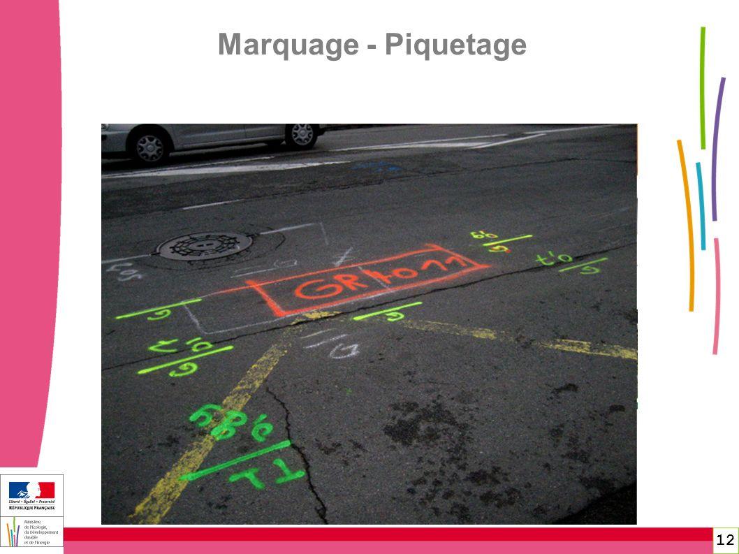 12 Marquage - Piquetage