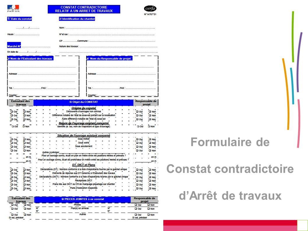Formulaire de Constat contradictoire dArrêt de travaux